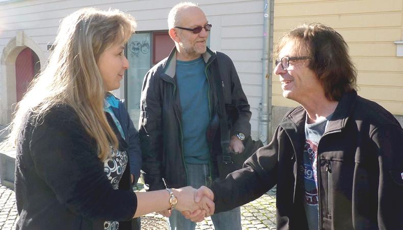 Purple Schulz zu Besuch im Erich-Ohser-Haus