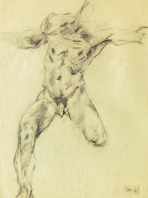 männliche Aktstudie / © Erich Ohser alias e.o.plauen