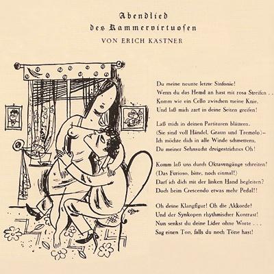 Illustration Erich Ohsers zu Erich Kästners Gedicht