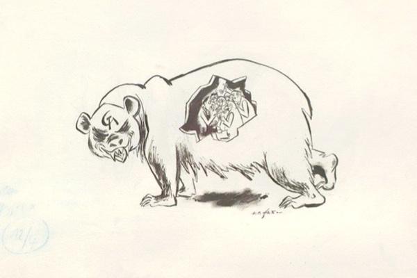 Karikatur für »Das Reich« / © Erich Ohser