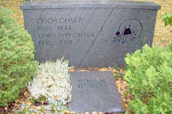 Grabstelle Ohser auf dem Plauener Hauptfriedhof