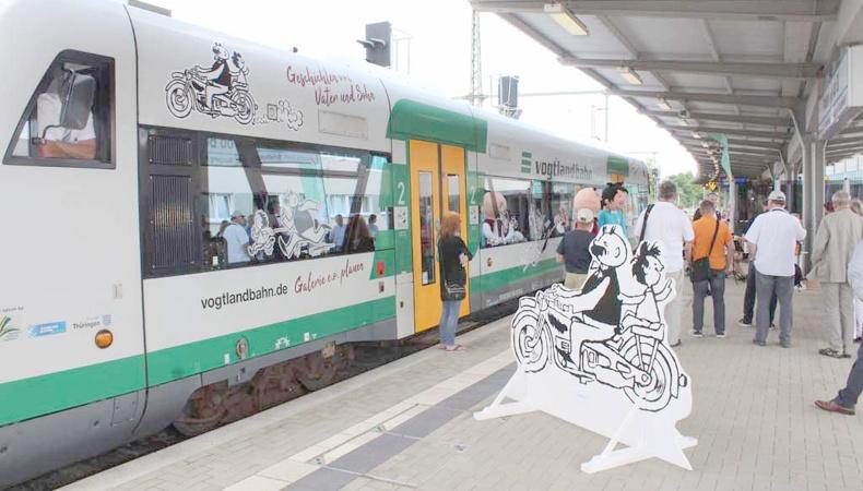»Vater und Sohn«-Zug der Vogtlandbahn