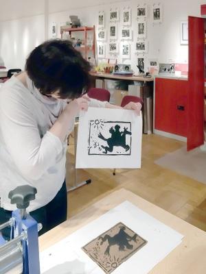 Druckwerkstatt in der Galerie e.o.plauen