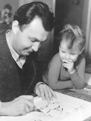 Erich Ohser mit Sohn Christian