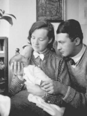Erich Ohser mit Frau Marigard und Sohn Christian