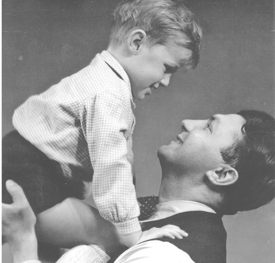 Erich Ohser und Sohn Christian, Mitte der 1930er-Jahre